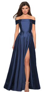 Slit front prom dress