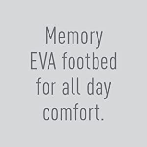 Memory EVA footbed for all day comfort.