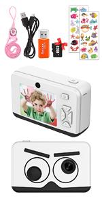 2.6 Inch 1080P Kids Camera (white))