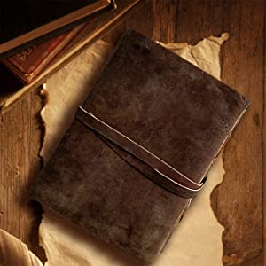 leather journal mens notebook shadow traveler bound blank women writing vintage fountain pen papers