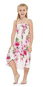 Girl Hawaiian Butterfly Dress