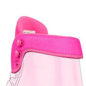 roller skates adjustable comfort rolled collar pink green blue purple