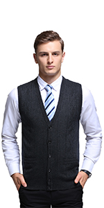 Homovater Mens Casual V-Neck Sweater Vest Sleeveless Knitwear Argyle Knitted Tank Top Pullover