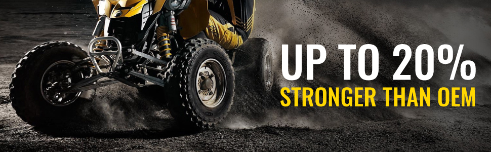 sixity xta extreme duty axles are up to 20% stronger than oem