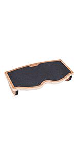 wooden foot rest desk