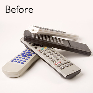 Remote Control Holder 360 Degree Spinning Desk Organizer for Remote Controllers, TV Guide, Mail