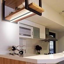 Anschließbar 5W LED Lichtleiste Unterbauleuchte Wandleuchte Lampe Küche mit  Schalter Neutralweiß 4000K Lampenlänge 313MM, 1er Lampe von Enuotek