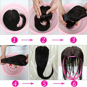 how to wash the wig