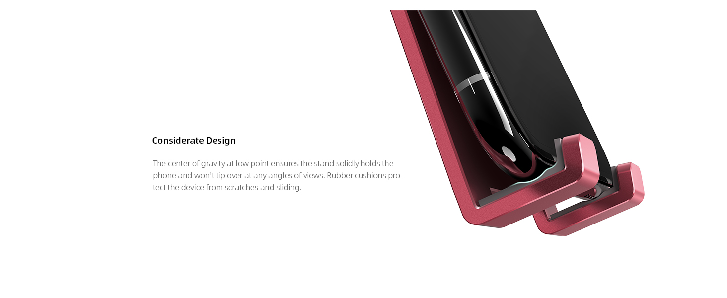 phone stand  Adjustable Cell Phone Stand, Lamicall Phone Stand : [Update Version] Cradle, Dock, Holder Compatible with iPhone Xs XR 8 X 7 6 6s Plus SE 5 5s 5c Charging, Accessories Desk, Android Smartphone – Red 98547813 5004 466f 8766 dc3de601f79d