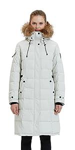 waterproof puffer long coat winter hooded jacket