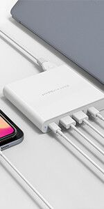 HyperJuice 87W USB-C Power Adapter Charger with QC3.0 & QC4.0