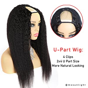 2x4 u part wig