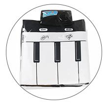 Portable kids piano mat