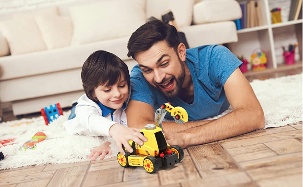 birthday gifts for 5 year old boys,educational toy set,take a parts,stem learning truck