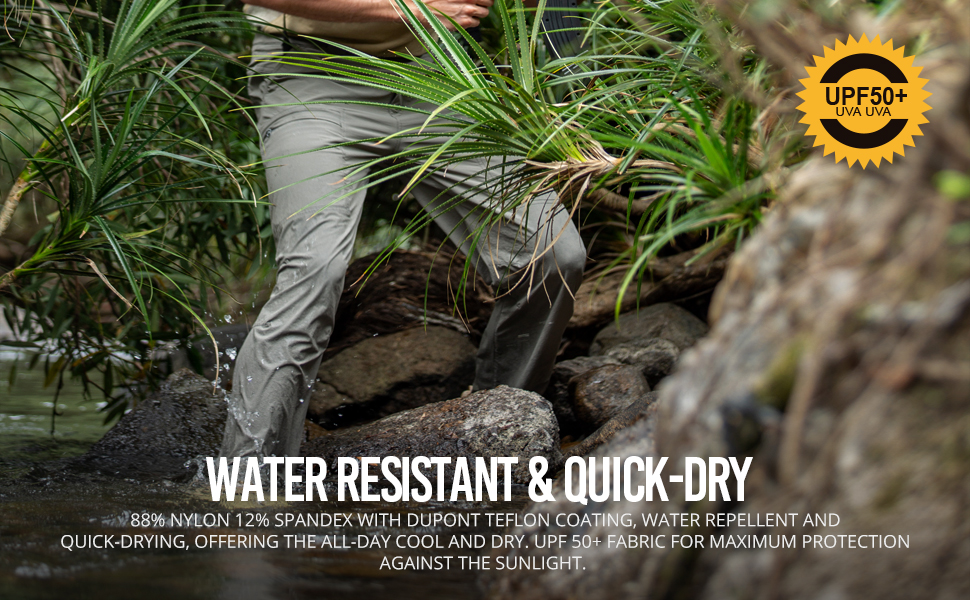water resistant & quick-dry