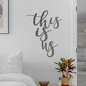 This is Us Hammered Silver finish from Badger Steel USA Metal Wall Art and Home Decor