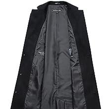 Mens Black Long Overcoat