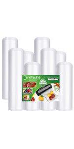 food saver vacuum sealer bags rolls 8 11inch 8X50 11X50  vacuum bags for food 11 x 50