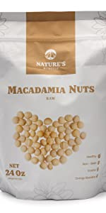Nature's Morsels Raw Macadamia Nuts