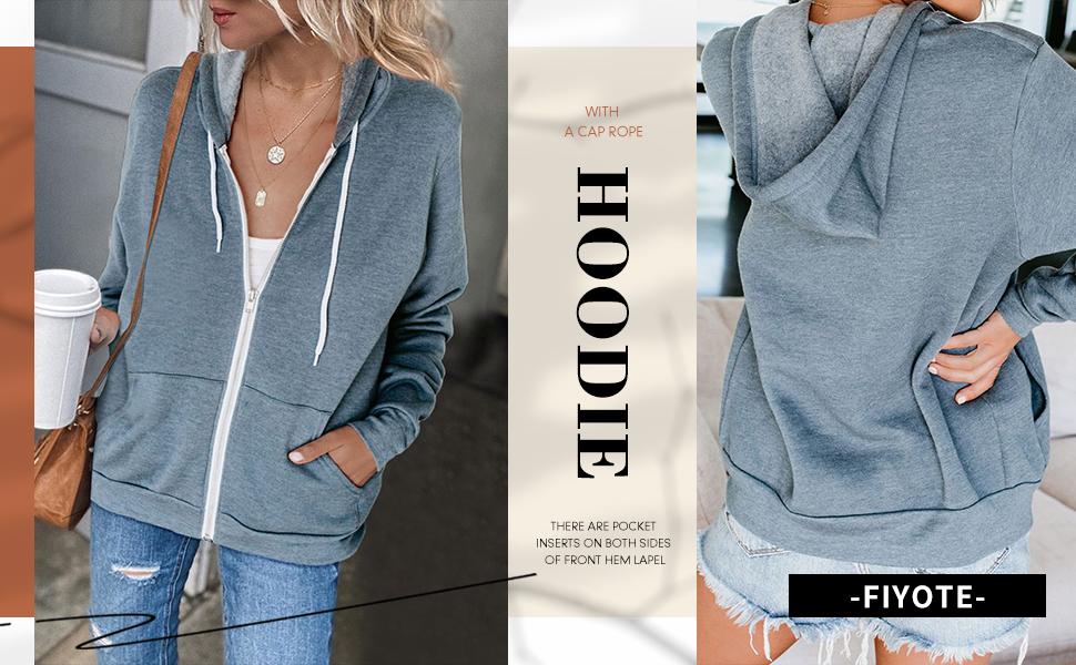 long sleeve Zip-Up Hoodie Jacket