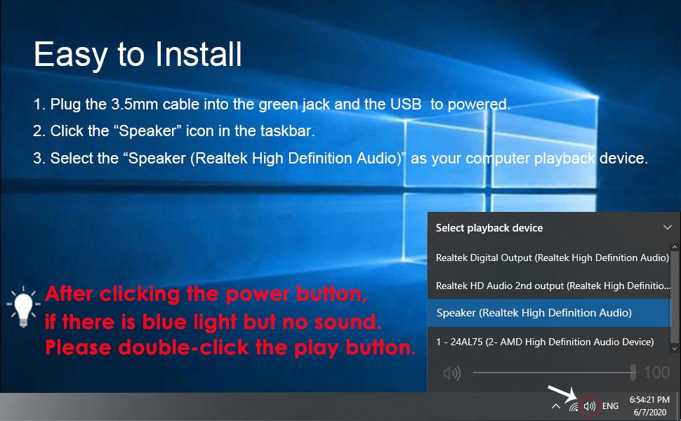 USB Computer Speaker PC Speaker for Laptop  Desktop Computer