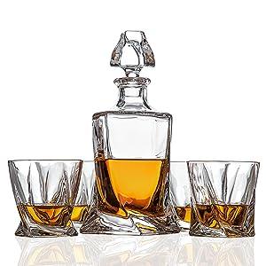 whisky whiskey decanter glasses tumbler set