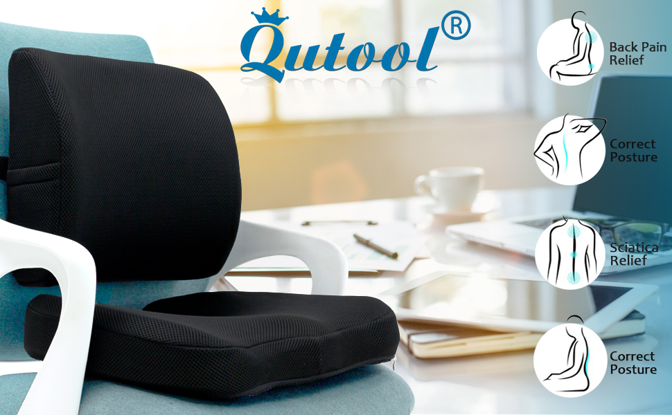 Coccyx Seat cushion and Lumbar Support Pillow
