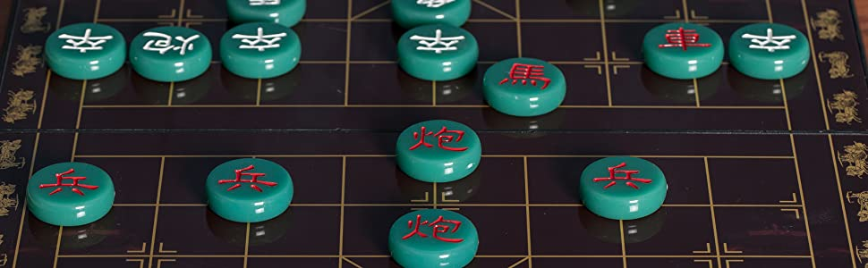 Jade Color Chinese Chess (Xiangqi) Magnetic Travel Board Game Set