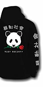 Riot Society Panda Rose Hoodie