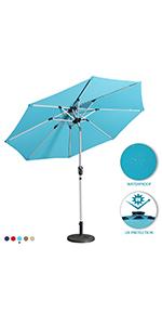 light bars patio umbrella