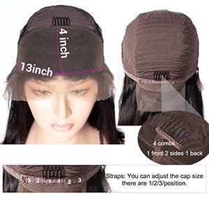Medium Brown Wig Cap