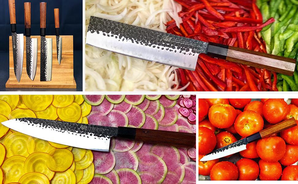 octagon handle knife set