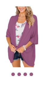 purple kimono cardigan
