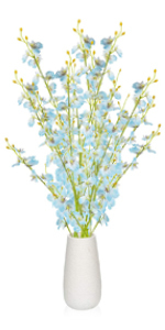 Blue-White Flowers with Vase
