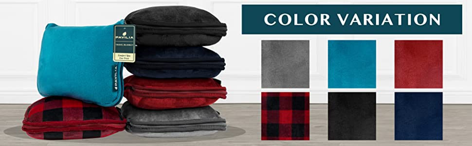 travel blanket color options