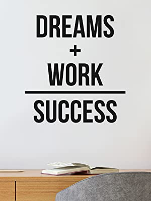 Dreams Work Success Wall Quote Decal 24x19