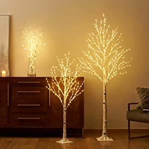 LITBLOOM lighted birch tree