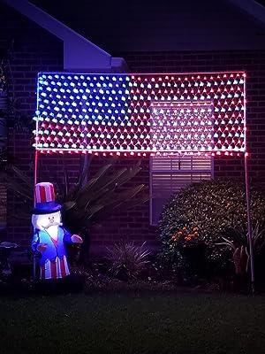 USA flag lights