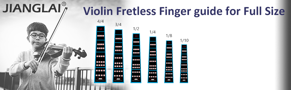 fretless finger guide for full size violin