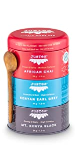 black tea trio loose leaf organic fair trade tea