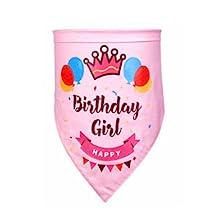 adorable birthday girl bandana