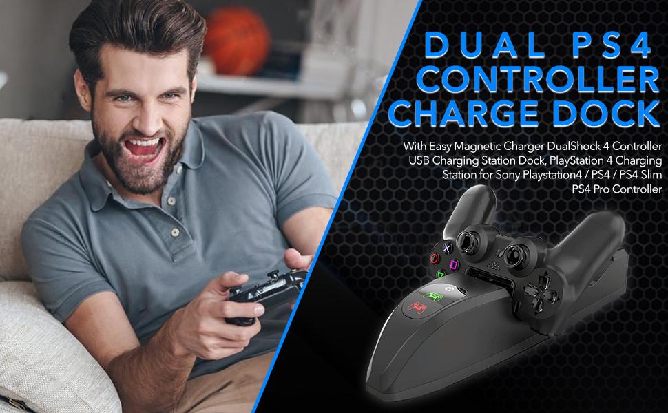 dual ps4 controller charging dock