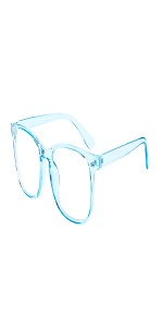 Blue blue light blocking glasses