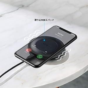 ワイヤレス充電器 Anker PowerWave Alloy Pad
