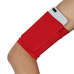 Cell Phone Running Arm Band Pure Rose Red