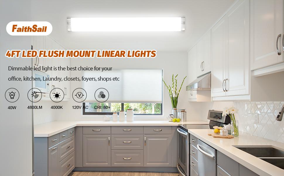4ft led flush mount lights