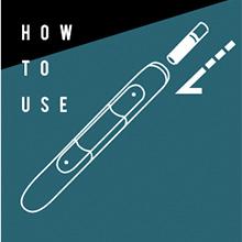 HOW TO USE 市販の加熱式たばこを 挿入するタイプのデバイスで ご利用いただけます。