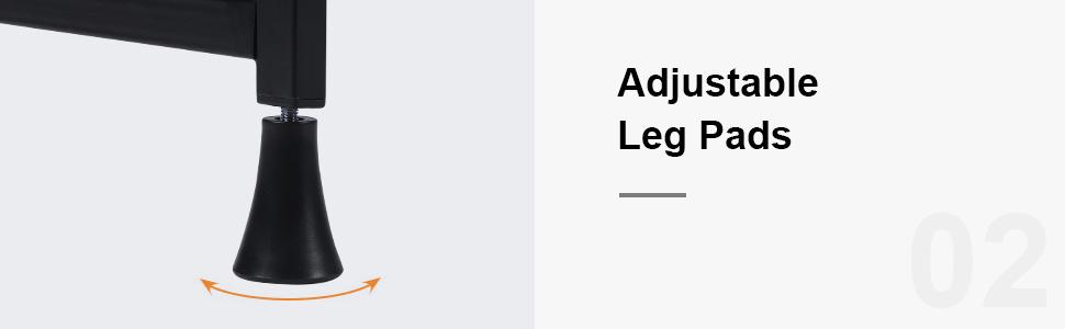 ADJUSTABLE LEG PADS desk