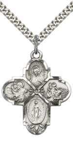 Sterling Silver Four Way Cross Pendant