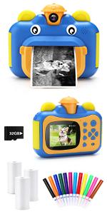 32GB Instant Print Camera